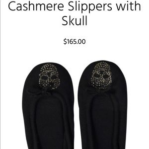 Autumn Cashmere Scull Slippers size small